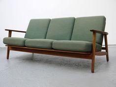 Upholstered Three Seat Danish Cigar Sofa