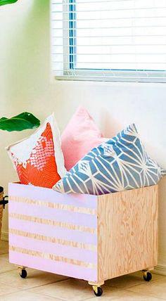 DIY Minimalist Wood Storage Bin