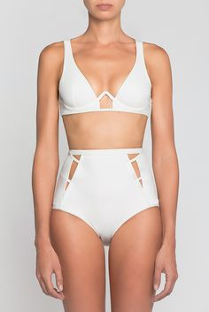 Alice High Waisted Bikini in White | Moeva | NOT JUST A LABEL