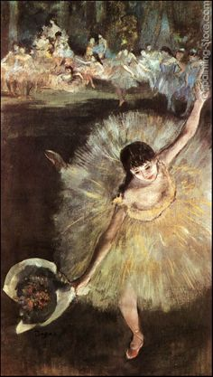 """The Star"" by Edgar Degas is my favorite of all his paintings.  One of my best friends brought me a print from the Louvre to hang with the rest of my Degas collection! @Mallory Meriwether"