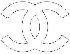 Chanel Logo Stencil Sketch Coloring Page