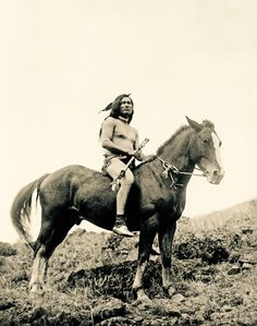 """zooophagous: """" sagrasa: """" equine-hourglass: """" Incredible picture of a Native American warrior riding a cross between the Appaloosa and Akhal Teke breeds, called the Nez Perce horse. Picture from """" This is an actual Nez Perce horse, not a. Native American Warrior, Native American Wisdom, Native American Beauty, Native American Photos, Native American Tribes, Native American History, American Indians, American Life, American Quotes"""