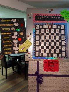 POKER DARTS- had a great time making this for a buck & doe party. Buck And Doe Games, Stag Games, Vegas Party, Casino Night Party, Casino Theme Parties, Fundraising Games, Minute To Win It Games, Crafts For Seniors, Party Games