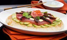 Receta de Pizza de sushi con atún