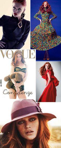Modelos brasileiras Cintia Dicker em campanhas e desfiles