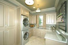 Green/gray walls like master bath - Laundry Rooms - contemporary - laundry room - oklahoma city - Richard Douglas Cabinets and Trim