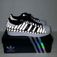 Adidas Xeno Superstar Shoes Worn once. Sz 9 in Mens. Adidas Shoes Sneakers