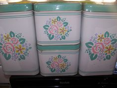 cute vintage cannisters