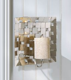 Modern Mosaic Wall Mirrored Candle Sconce & 190 best Candle Sconce? images on Pinterest | Candle wall sconces ...