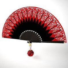 flamenco fan X Antique Fans, Vintage Fans, Hand Held Fan, Hand Fans, Chinese Fans, Fan Decoration, Art Asiatique, Vintage Vanity, Clutch