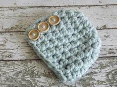 Baby boy crochet hat.