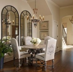 Decorative Mirrors For Dining Room Chandelier Tall Back Chairs Impressive Decorative Mirrors Dining Room Design Inspiration