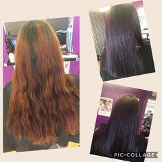Colour change using kadus hair colours