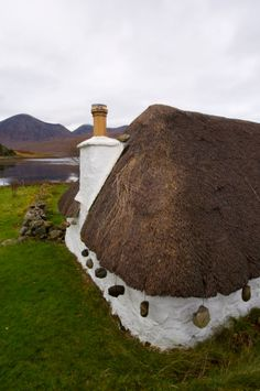Thatched crofting cottage, Luib, Isle of Skye, Scotland.