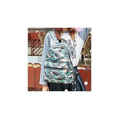 Camouflage Canvas Backpack ($19) ❤ liked on Polyvore featuring bags, backpacks, accessories, blue camouflage backpack, blue backpack, camouflage bag, rucksack bag and camo bag