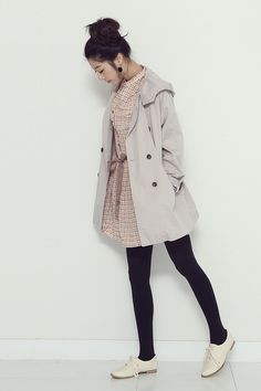 2016 Korean Spring Look Outfit Inspirations Classy Teen Fashion, Korean Fashion Teen, Korean Fashion Online, Korean Fashion Winter, Ulzzang Fashion, Korean Street Fashion, Korea Fashion, Japanese Fashion, Cute Fashion
