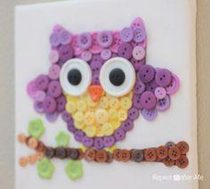 Button Owl Art