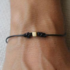 Bracelet Infinity 02 Gold Leather Handmade - Eternity (B202GD-L)
