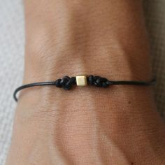 Bracelet Infinity 02 Gold Leather Handmade Eternity by cololinks