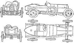 1921 Aston Martin 15L GP OW blueprint