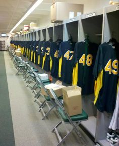 2012 Spring Training Locker Room.