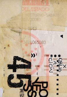 detail of art journal ~Juan Casini Collage Art Mixed Media, Lettering, Grafik Design, Art Journal Inspiration, Mail Art, Altered Books, Paper Art, Paper Collages, Book Art