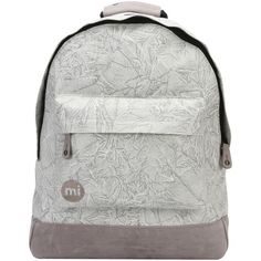 Mi-Pac Liquid Backpack, Light Grey ($37) ❤ liked on Polyvore featuring bags, backpacks, travel backpack, travel rucksack, embroidered bag, rucksack bags and day pack backpack