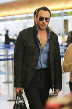 Tom Ford is seen at LAX.