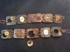 Steampunk multimedia bracelet by ginating on Etsy, $75.00