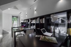 Modernized Your Office With Simply Black Tables And Filing Cabinets Also Wonderful Lighting Fixtures 3 Simple Tips To Modernize Your Office Choosing The Appropriate Decoration other design ideas