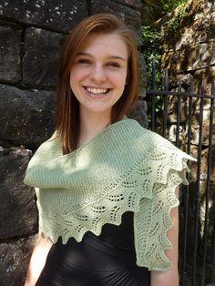 Ravelry: Fern Lace Shawlette pattern by Michele Bernstein