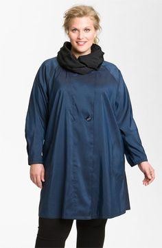 Mycra Pac Designer Wear Reversible Scrunch Neck Travel Coat (Plus Size) available at #Nordstrom