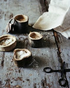Artisan Andrea Brugi carved salt holders photography by Ditte Isager styling by Christine Rudolph as seen on linenandlavender.net - http://www.linenandlavender.net/2013/07/artisan-feature-andrea-brugi-it.html
