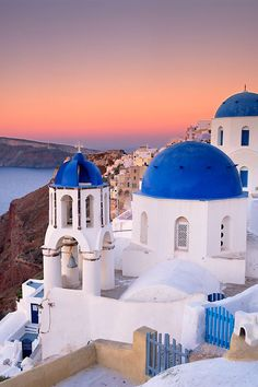 Tholos area, Oia, Santorini Greece