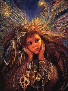 """""""Magpie Fairy"""" by Josephine Wall."""