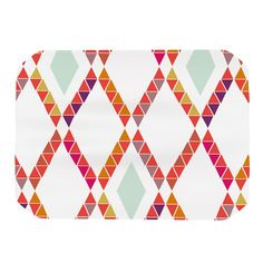 "Pellerina Design ""Aztec Diamonds"" Orange Geometric Place Mat"