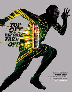 Gatorade posters are exploding with colour | Posters | Creative Bloq - ADHEMAS BATISTA