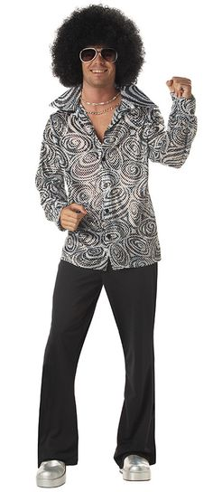Groovy Disco Shirt Adult Costume Includes wig and shirt. Does not include\u2026