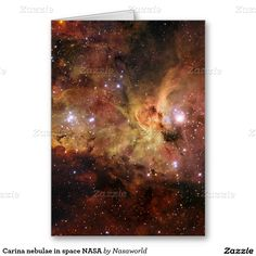 Carina nebulae in space NASA Greeting Card