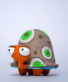 Tartaruga | Papel Maché - Medida: 9 x 9 x 11 cm. | Javiera Donoso Romo | Flickr