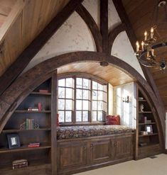 possible architecture of the Hufflepuff common room