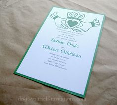 DIY Irish Wedding Invitations: Make Your Own And Save