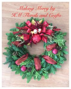 """"""" The Christmas Wreath helps us show our gesture of hospitality. Who will you find by your door this Christmas? """""""