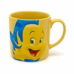 Disney The Little Mermaid Character Mug, Flounder | Disney Store on Wanelo