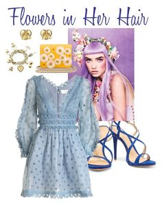 Flowers in Her Hair, IV by cheryl-muscoe on Polyvore featuring polyvore, moda, style, Zimmermann, Schutz, Charlotte Olympia, Gucci, fashion, clothing and flowersinherhair