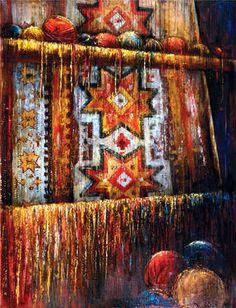 "Saatchi Art Artist Anna Ravliuc; Painting, ""World Carpets. Maria's Carpet."" #art"