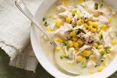 Creamy chicken and corn soup