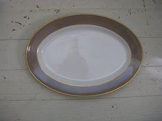 vintage mayer brown rimmed platter gold rimmed by rivertownvintage