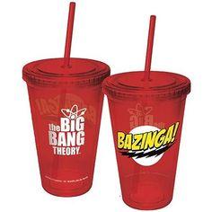 Big Bang Theory Plastic Cup w/ Straw
