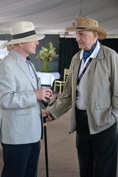 Two masters of classical dressage, Charles de Kunffy and Walter Zettl, discussing the event before the Q last night. Who would love to be a fly on the wall when these two talk to each other?